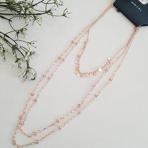 Triple Layer Long Necklace